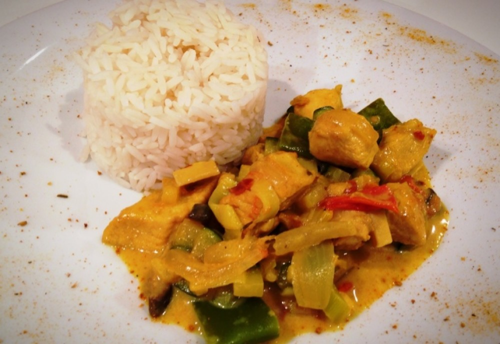 Chicken-Curry mit Basmati-Reis
